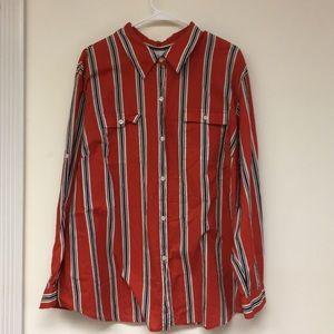 Liz Claiborne Button Down Stripped Shirt Size 22W